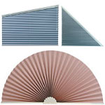 Specialty Drapery in Richmond Virginia offers Our specialty pleated shades come in a variety of shapes.