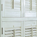 Double-Hung Exus Shutters with Horizontal T-Posts.