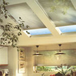 Specialty Drapery in Richmond Virginia offers pleated Skylight shades help control sunlight year-round.