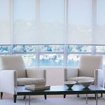 Specialty Drapery roller Solar Shades provide light control, heat reflection, and window insulation.