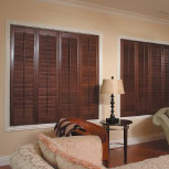 Sussex Wooden Shutters by Norman come in a variety of shapes and stains.