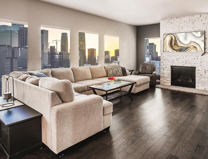 metallic living room decor